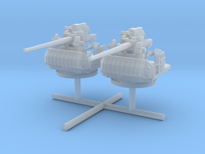 1/350 USN 5in/38 Cal Open mount set x2 in Smooth Fine Detail Plastic