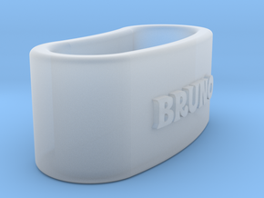 BRUNO napkin ring with lauburu in Smooth Fine Detail Plastic