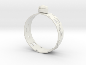 GoldRing MANYHOLE in White Natural Versatile Plastic
