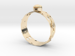 GoldRing MANYHOLE in 14k Gold Plated Brass