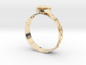 GoldRing MANYHOLES in 14k Gold Plated Brass