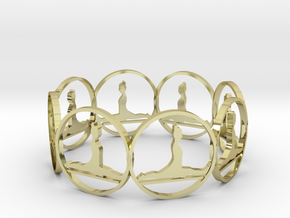 6 (3) in 18k Gold Plated Brass