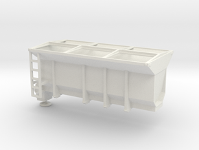 1/64th Tow Plow Sand Box in White Natural Versatile Plastic