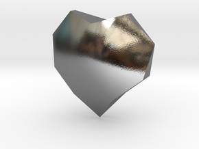27mm f134 gmtrx square heart 1  in Polished Silver