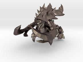 Starcraft Ultralisk 80mm miniature monster in Polished Bronzed-Silver Steel