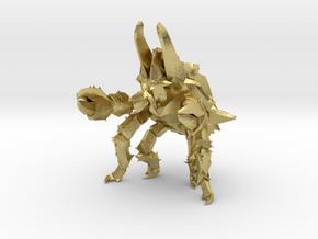Pacific Rim Onibaba Kaiju Monster Miniature in Natural Brass