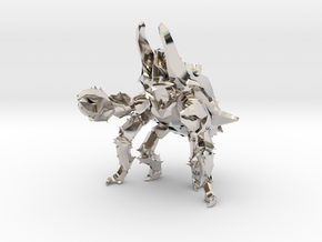 Pacific Rim Onibaba Kaiju Monster Miniature in Rhodium Plated Brass