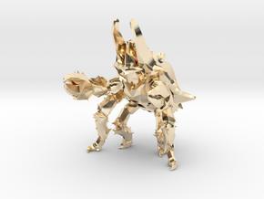 Pacific Rim Onibaba Kaiju Monster Miniature in 14K Yellow Gold