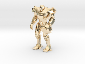 Pacific Rim Titan Redeemer Jaeger Miniature in 14k Gold Plated Brass