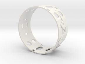 Gold Ring Ear in White Natural Versatile Plastic