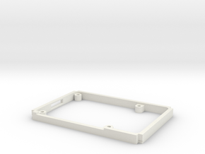 Raspberry Pi 3 case bottom in White Natural Versatile Plastic