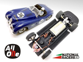 3D Chassis - NINCO Jaguar XK 120 (Inline-AllinOne) in Black Natural Versatile Plastic