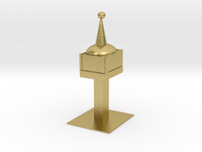 Space Needle in Natural Brass