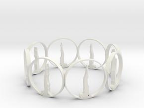 7 ring in White Natural Versatile Plastic