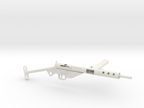 1-3rd Scale Sten Mk2 in White Natural Versatile Plastic