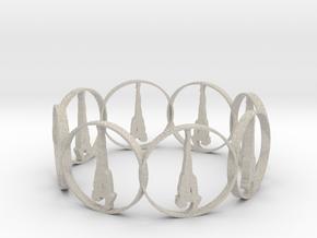 7 ring in Natural Sandstone
