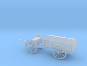 1/87 Scale Civil War Artillery Battery Wagon in Smooth Fine Detail Plastic