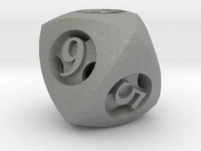 Overstuffed d8 in Gray PA12