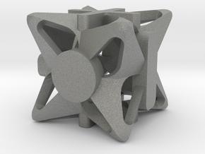 Fudge Pinwheel d6 in Gray PA12