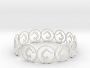01yogalegsheldoverhead in White Natural Versatile Plastic
