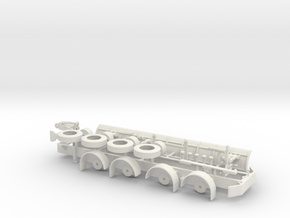 1/64th Tow Plow Trailer Frame in White Natural Versatile Plastic