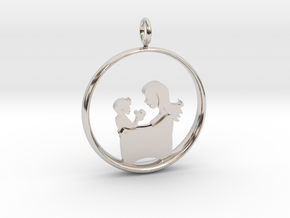 Mother & Son Pendant 3 -Motherhood Collection in Platinum