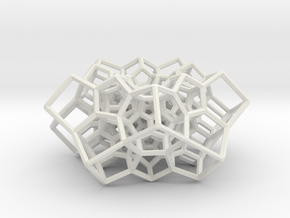 Partial 120-cell, torus-shaped in White Natural Versatile Plastic: Medium