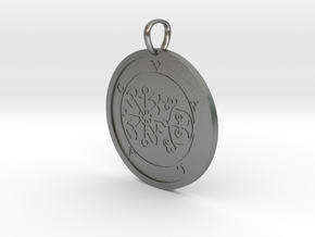 Volac Medallion in Natural Silver