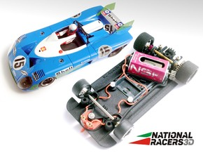 3D Chassis - SCR Matra 670 (AW/SW) in Black Natural Versatile Plastic