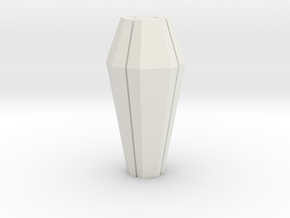 Necron Monolith Crystal Replacement - Grooved in White Natural Versatile Plastic