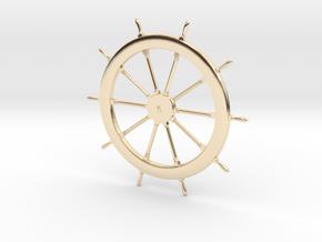 Schooner Zodiac Steering Wheel in 14k Gold Plated Brass