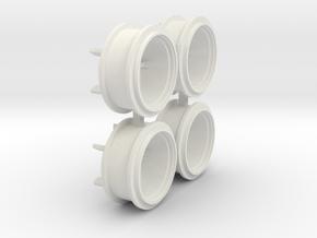 1100er MB Trac Zwillingsreifen in White Natural Versatile Plastic