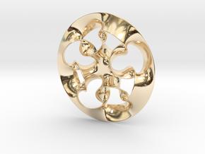 """Nine rings"" pendant in 14K Yellow Gold"