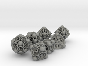 Spore Dice Set with Decader in Gray Professional Plastic