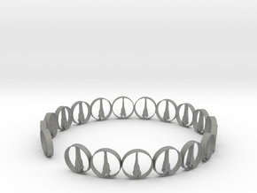 six size ring 18.11 mm (1) in Gray PA12