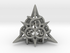 Thorn d4 Ornament in Gray PA12