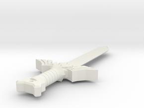 My Master Sword (#123) in White Natural Versatile Plastic