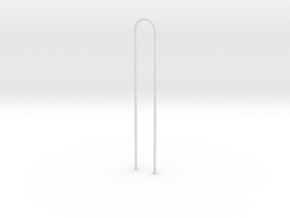 Bar-1to16 in White Natural Versatile Plastic