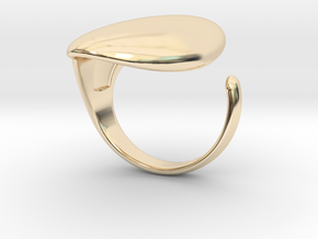 Plain Knuckle Ring in 14k Gold Plated Brass