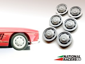 3D Wheel inserts - Mercedes 300 SL - 12,8mm in Smooth Fine Detail Plastic