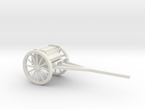 1/48 Scale British 75mm Gun Carriage Limber M1917 in White Natural Versatile Plastic