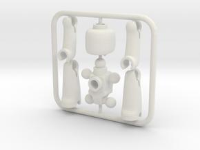 EGO miniature figure in White Premium Versatile Plastic