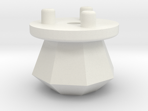 Emek/Etha 2 Bolt Cap - DIAMOND in White Natural Versatile Plastic