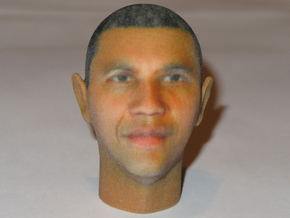 President Barack Obama Head in Full Color in Full Color Sandstone