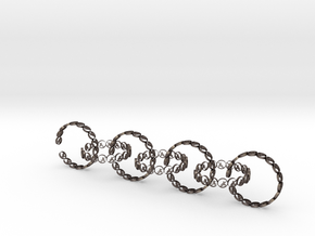 size 6 18.11 mm seven rings in Polished Bronzed-Silver Steel