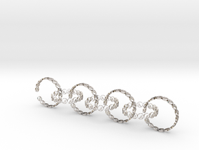 size 6 18.11 mm seven rings in Rhodium Plated Brass