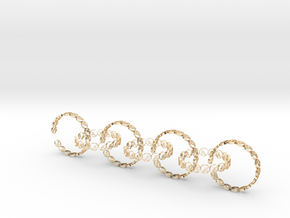 size 6 18.11 mm seven rings in 14K Yellow Gold
