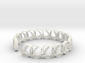 size 6 18.11mm ring (1) in White Natural Versatile Plastic