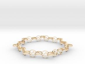 63.5 mm approximately bracelet in 14k Gold Plated Brass
