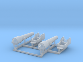 2 X 1/150 Navy Parrott 150 lb Rifled Cannon in Smooth Fine Detail Plastic